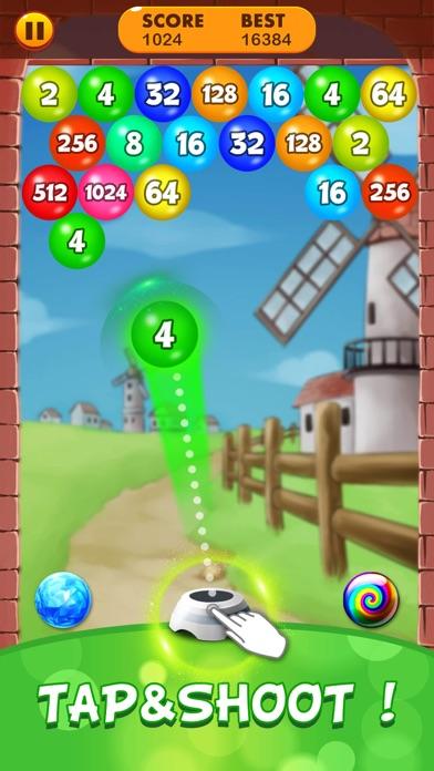 2048 Balls: Merge Magic Bubble screenshot #1