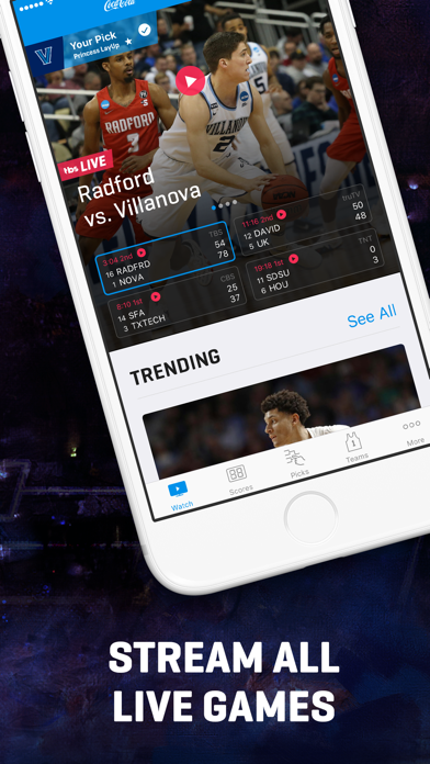 Screenshot for NCAA March Madness Live in United States App Store