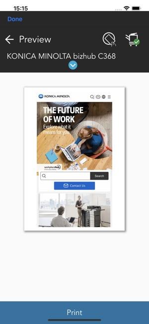 Konica Minolta Mobile Print on the App Store