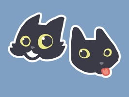 Share your feelings with this 40 Sticker emoticons pack - starring Nancy & Pickle, sisters and rescue cats