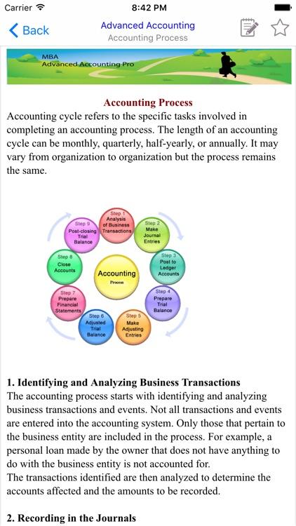 MBA Advanced Accounting screenshot-3