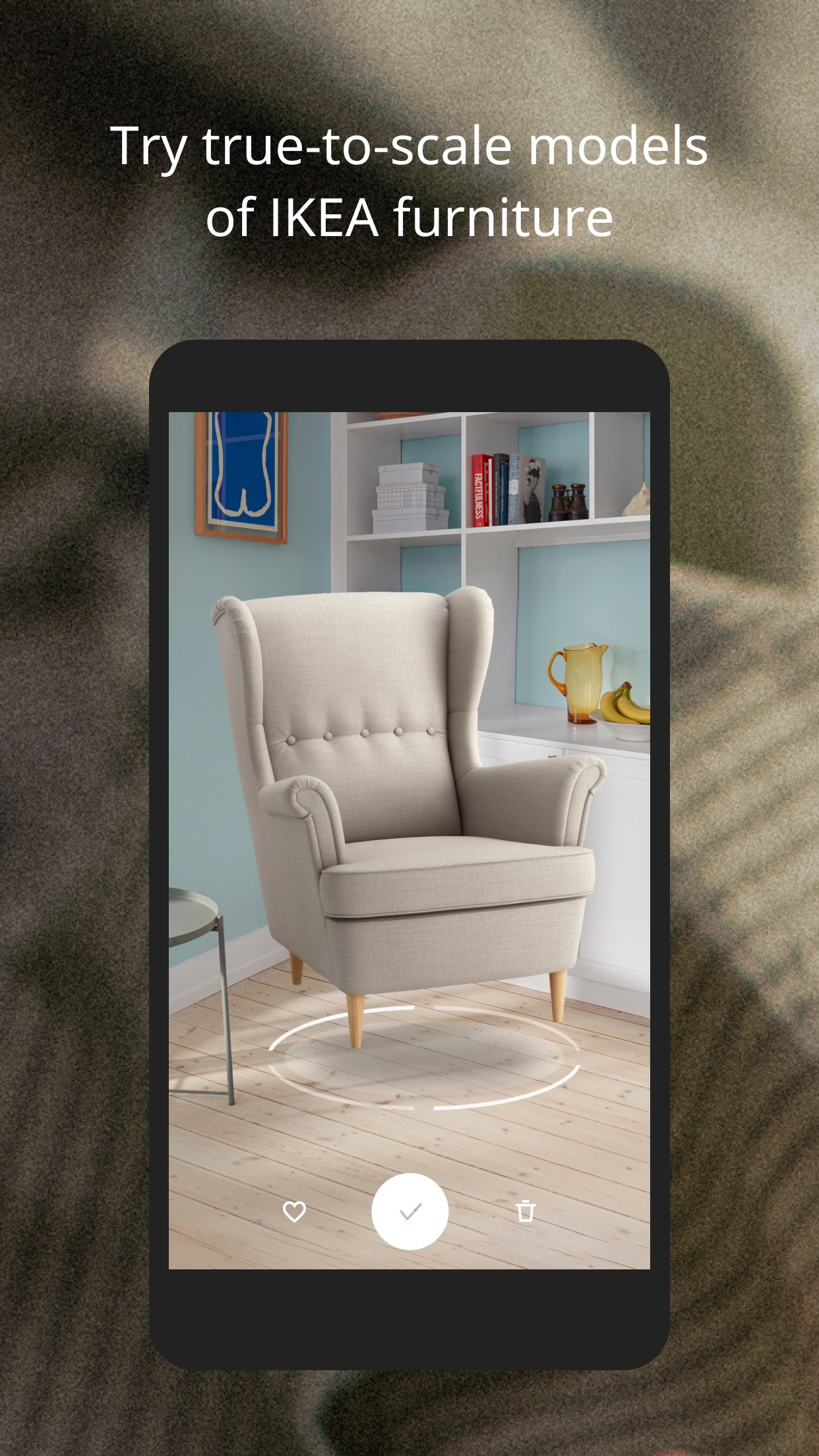 Screenshot do app IKEA Place