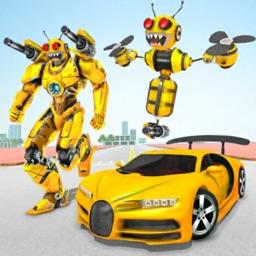 Bee Robot Transform Game 3D