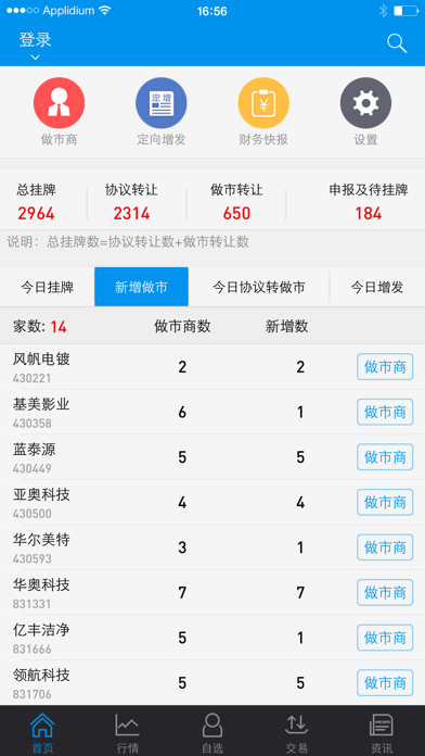 新三板-同花顺出品 screenshot one