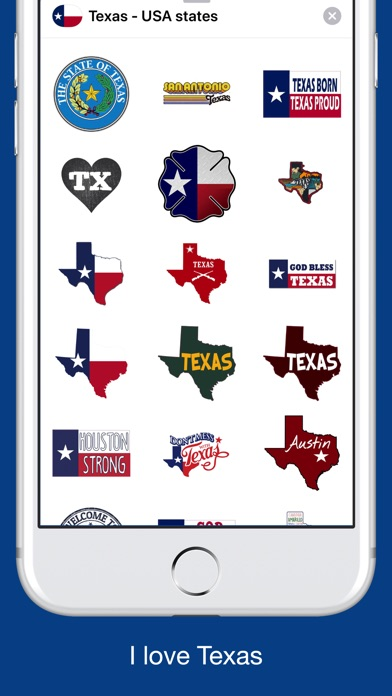 Texas emojis - USA stickers screenshot 3