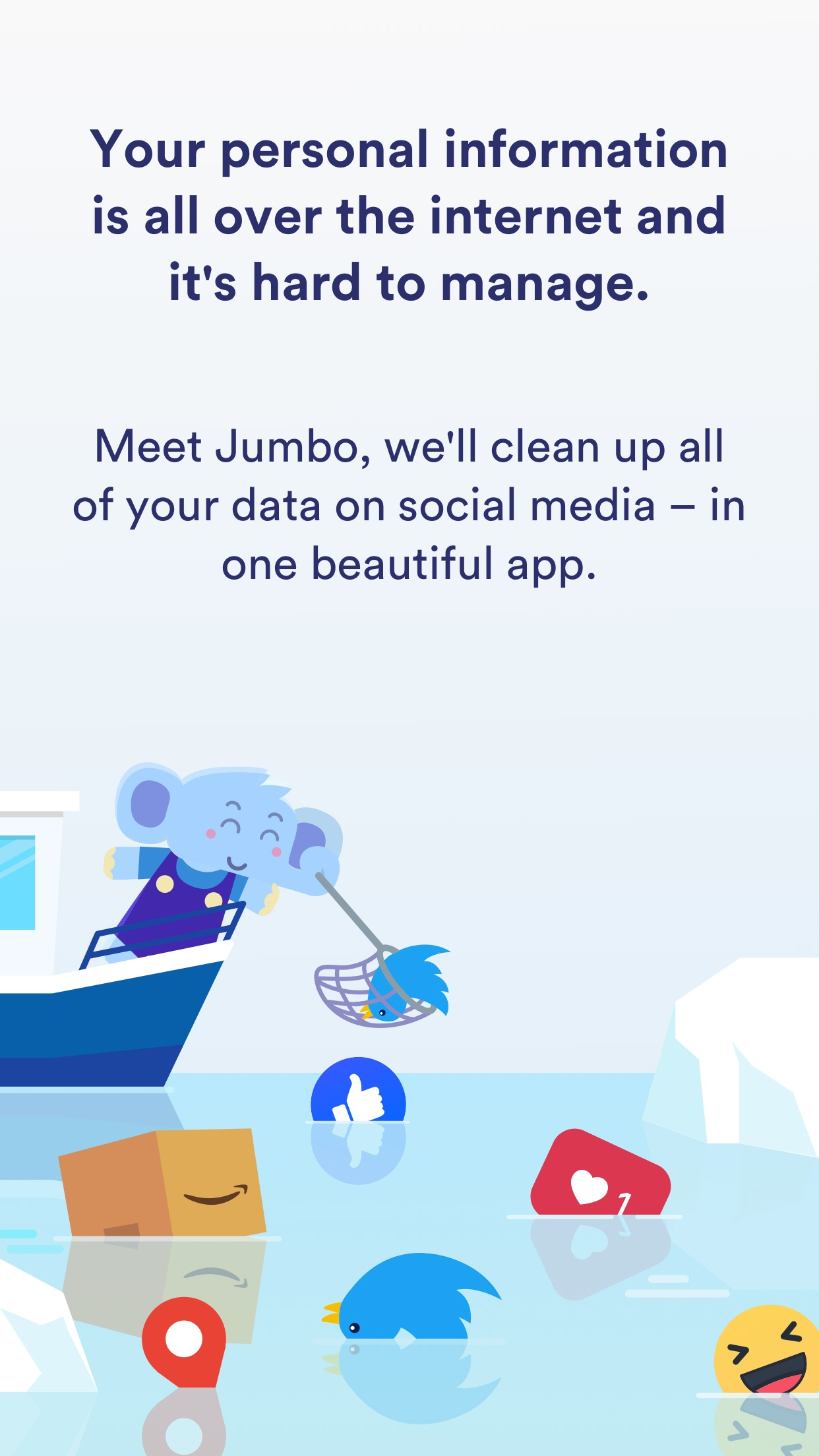 Screenshot do app Jumbo: Privacy Assistant.