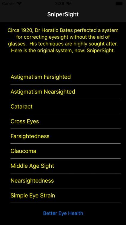 SniperSight: Eye Exercises