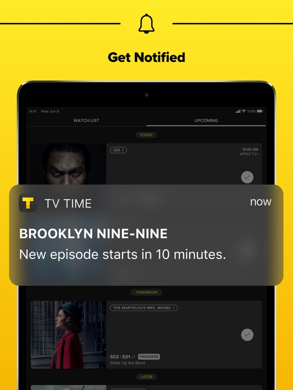 TVShow Time, the TV guide for TV show addicts screenshot