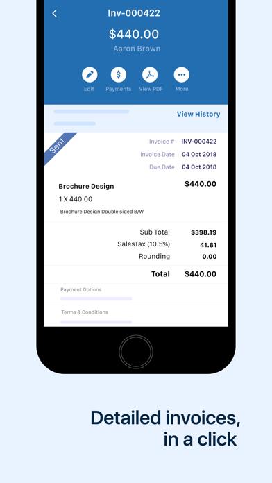 Invoice & Time Tracking - Zoho Screenshot