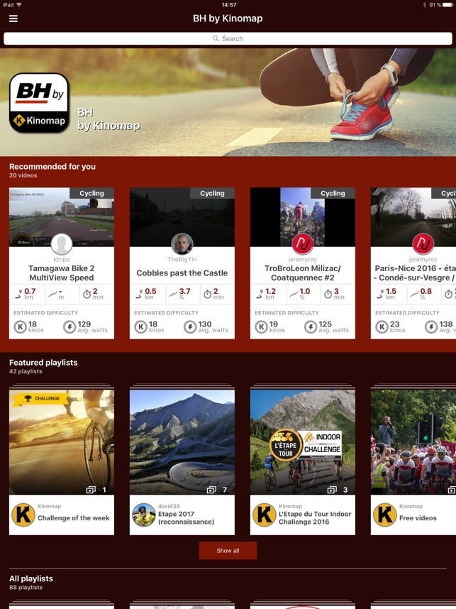 BH by Kinomap on the App Store