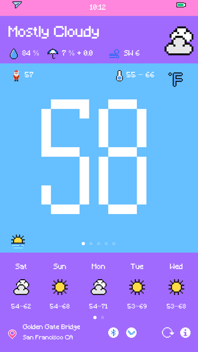 Pixel Weather - Forecast Screenshots