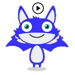Animated Little Bat Sticker