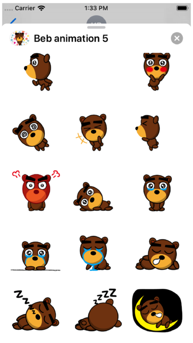 Beb Animation 5 Stickers Screenshot