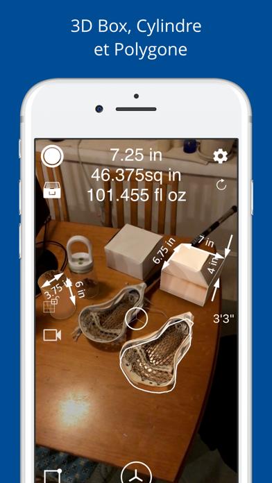 Screenshot #2 pour Mesurer 3D Pro - AR à mesurer