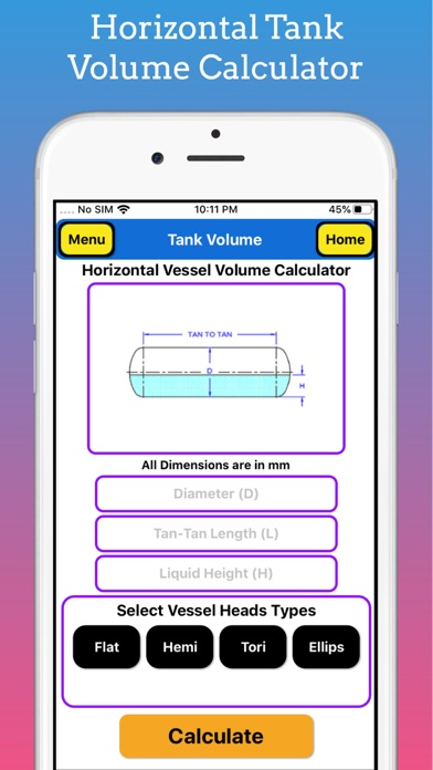 Tank Volume Calculator Pro screenshot 2