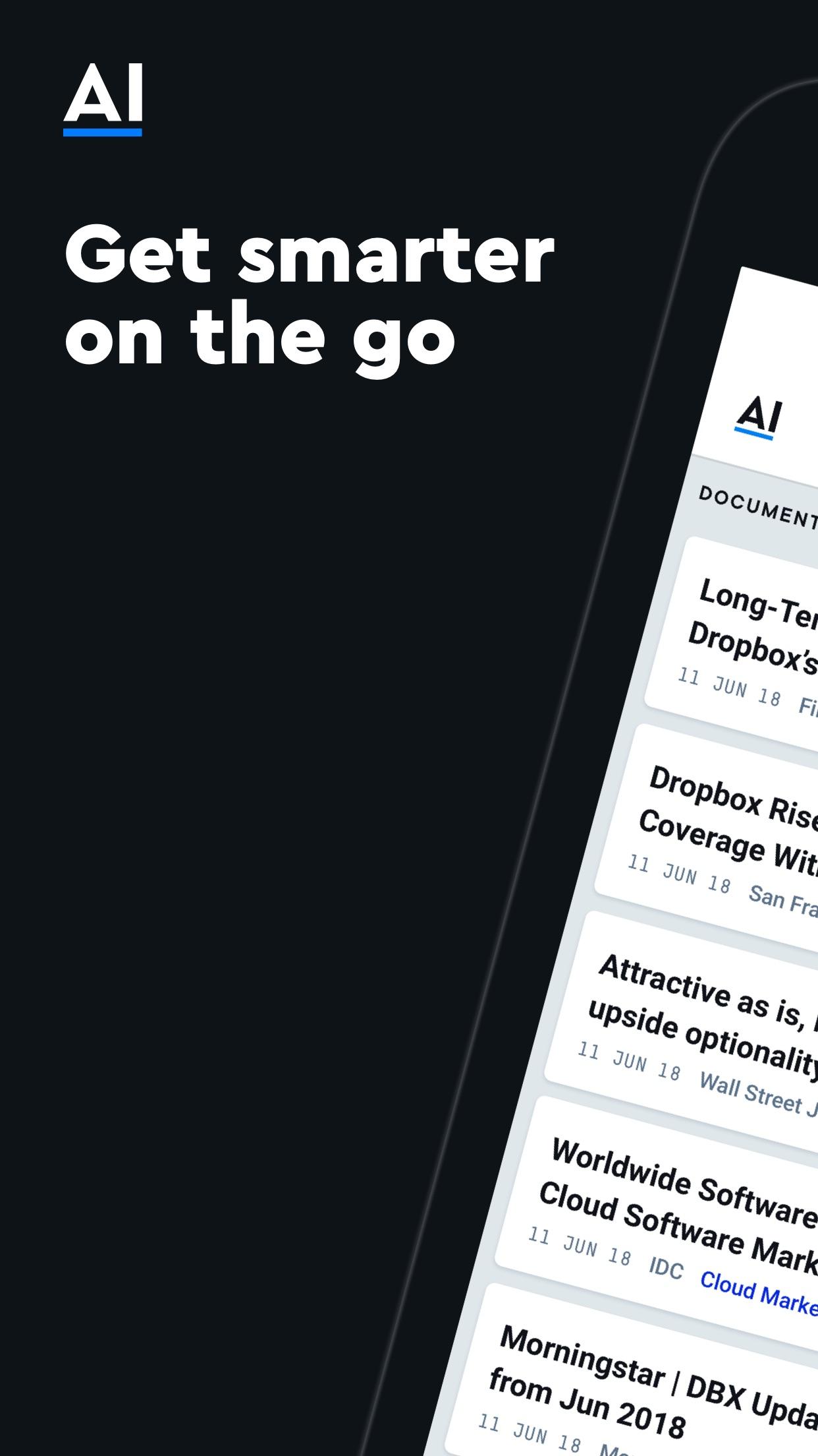AlphaSense Screenshot