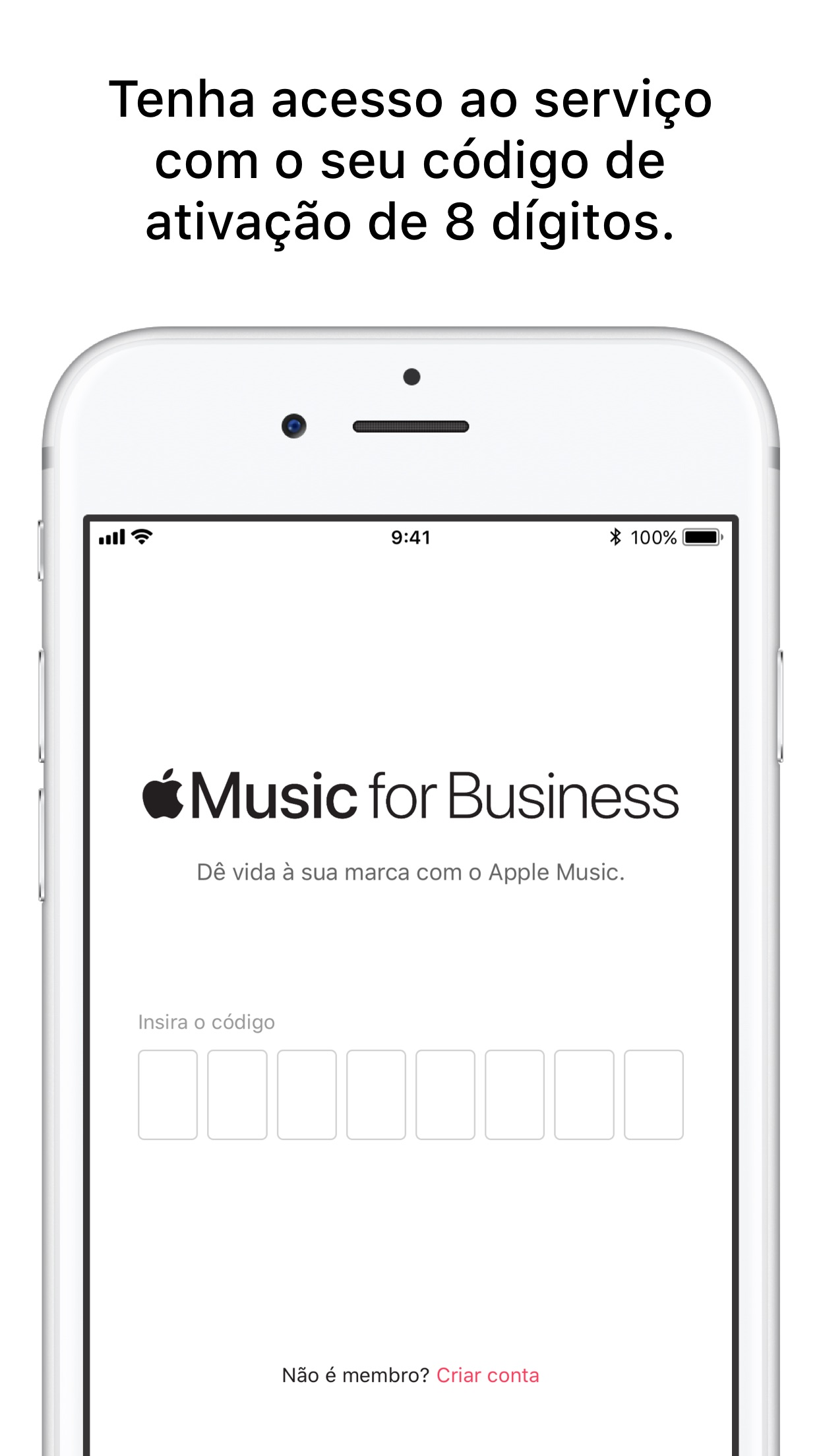 Screenshot do app Apple Music For Business