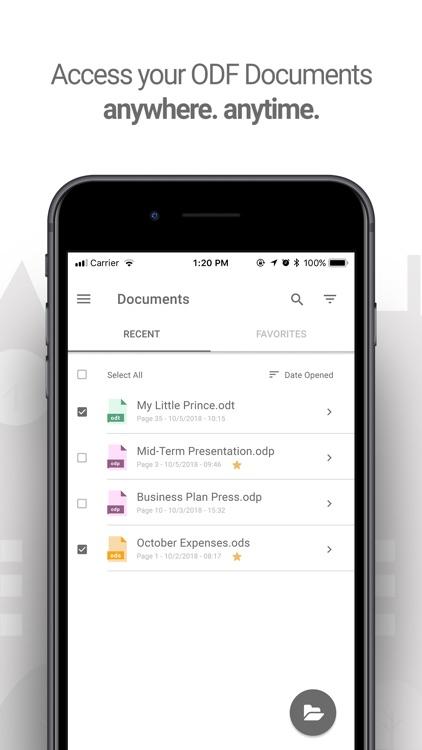 LibreOffice document viewer