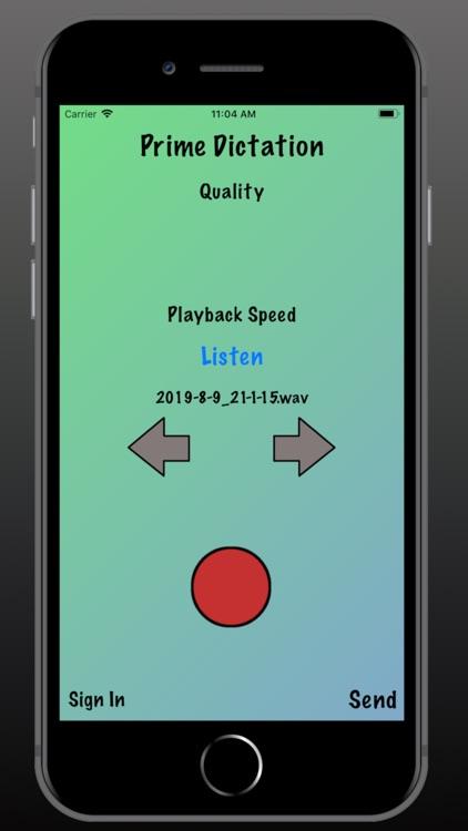 Prime Dictation - Audio Record