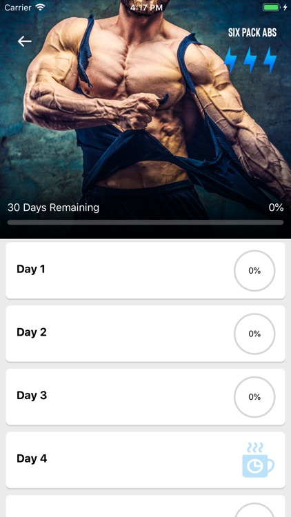 Six Pack in 30 Days -With Diet screenshot-3