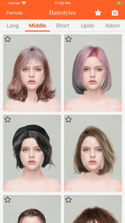 Hairstyle try on-hair color screenshot-3