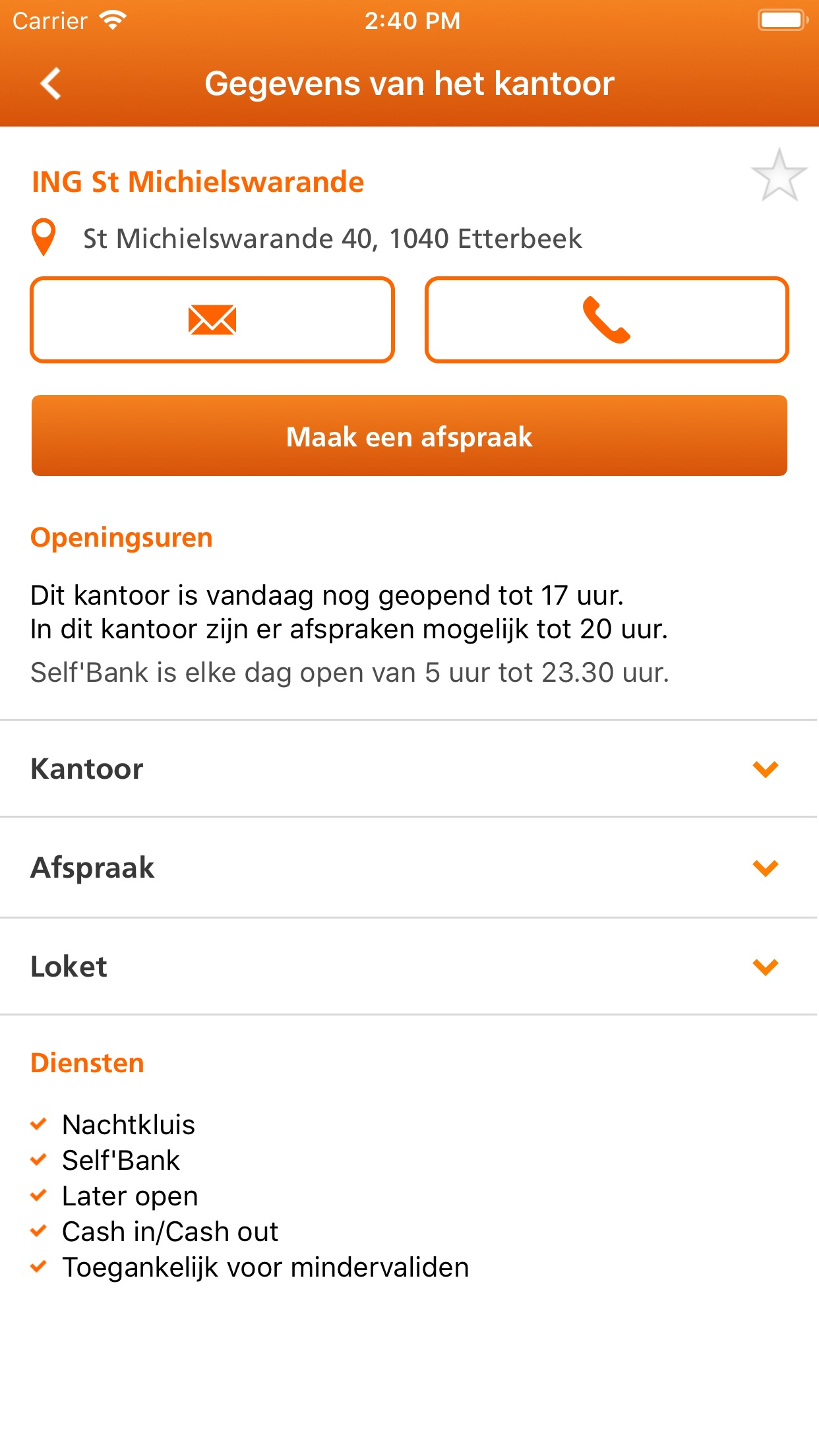 ING Smart Banking voor iPhone Screenshot