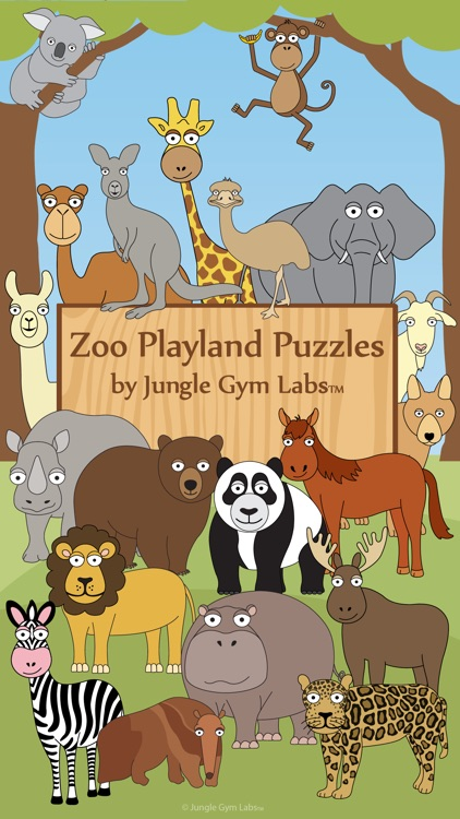 Toddler Puzzle Zoo Animals