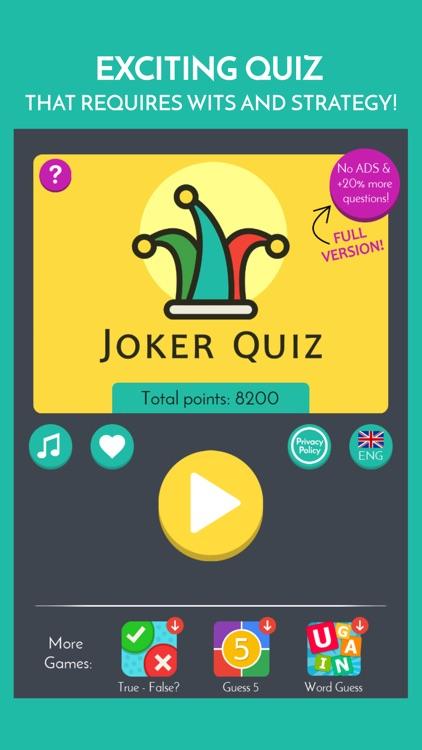 Joker Trivia Quiz screenshot-3