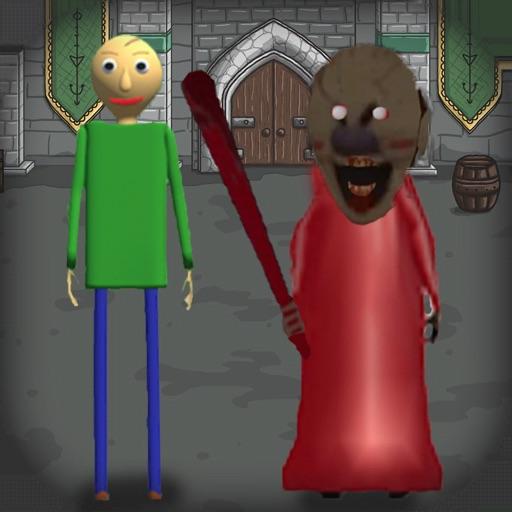 Red Granny and Green Baldi 2