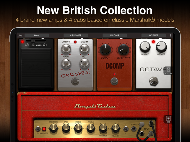 ‎AmpliTube for iPad Screenshot