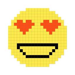 Drawing by pixel - Emoji paint
