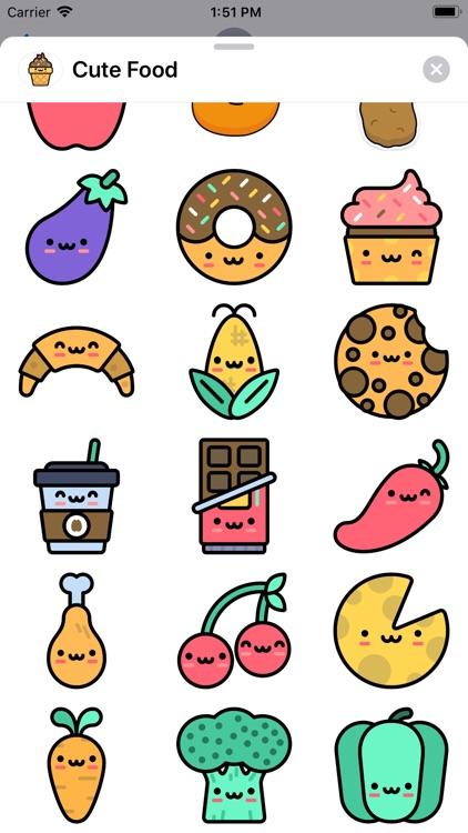 Cute Food Sticker Pack screenshot-4