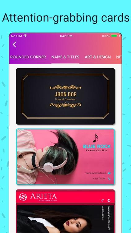 Business Card Maker, Make Card screenshot-4