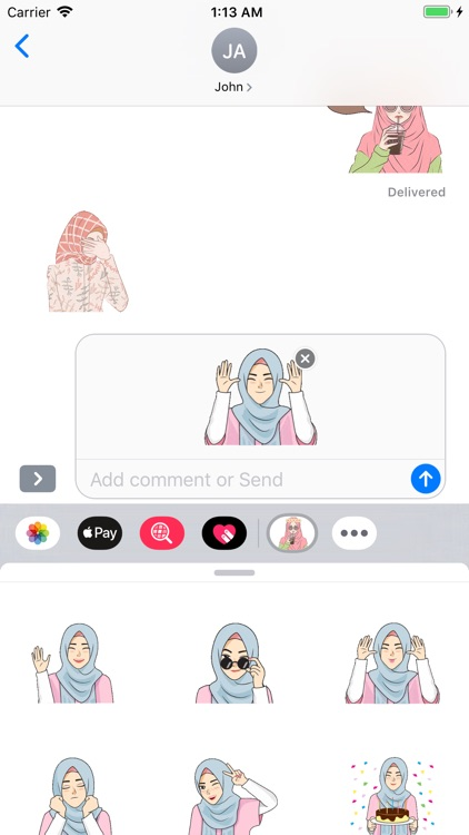 Hijab Girl Stickers iMessages screenshot-6