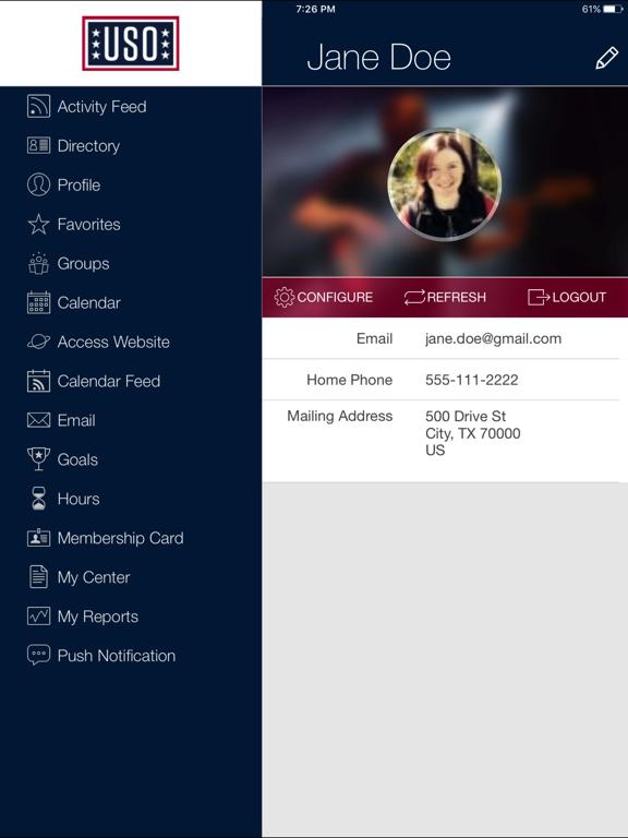 USO Volunteer Community screenshot