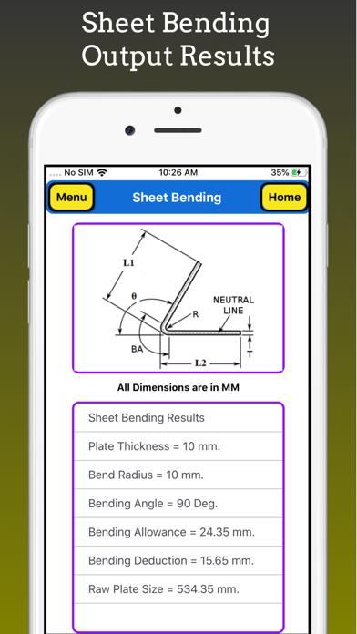 Sheet Bending Calc screenshot 3