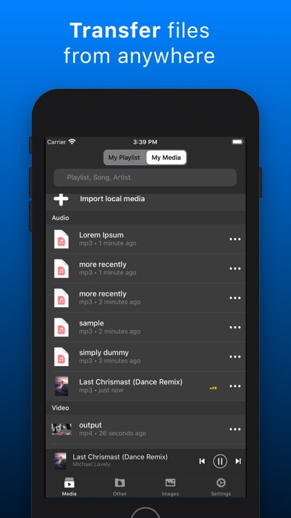 My Media Files: File Manager