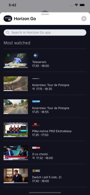Aplikacja Horizon Go Polska w App Store
