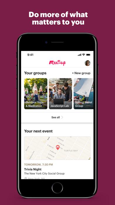 Meetup review screenshots