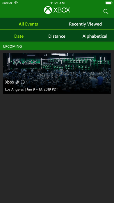 Xbox Events screenshot 1