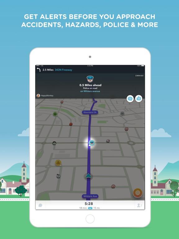 Waze Navigation & Live Traffic-ipad-2