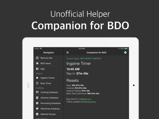 Companion for BDO on the App Store