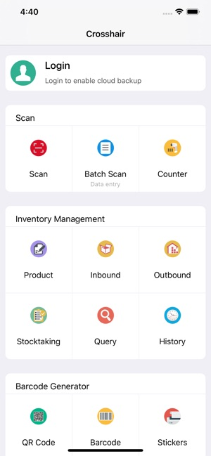 Crosshair - Barcode ERP on the App Store