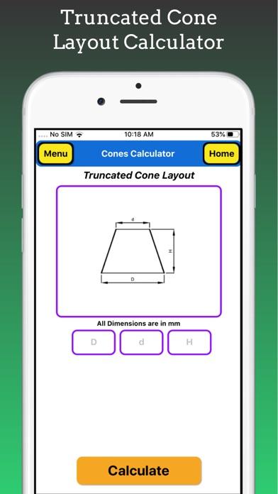 Cones Calculator screenshot 2