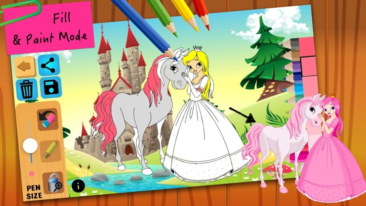 Princess Fairy Tales Coloring