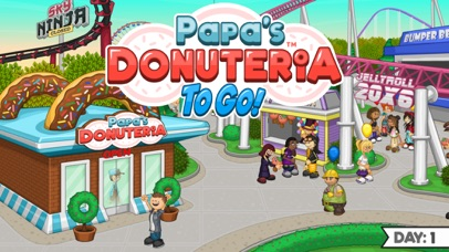 Papa's Donuteria To Go! screenshot 1