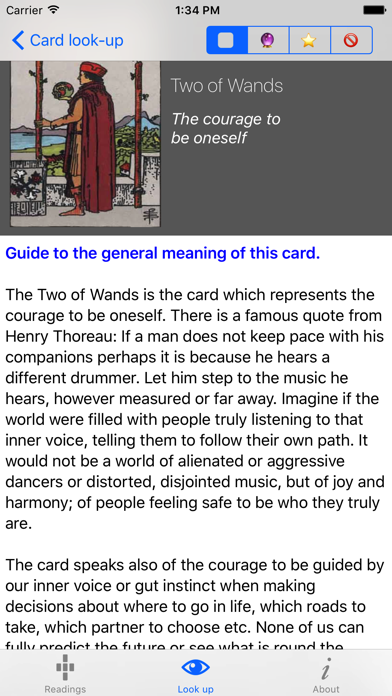 Learn Tarot review screenshots