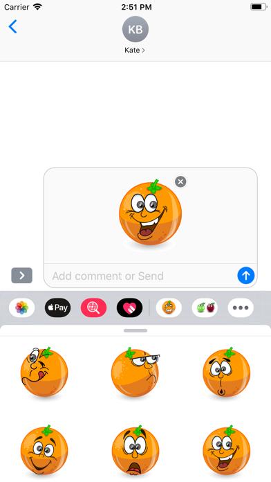 OrangeFruitFacesSt screenshot 3
