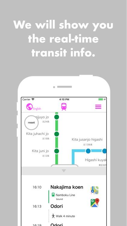 Sapporo Subway Navigation screenshot-4
