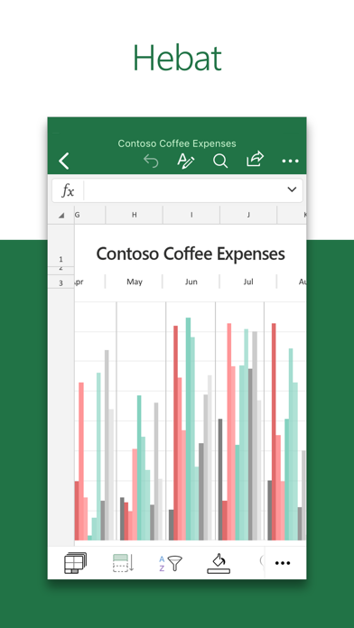 Screenshot for Microsoft Excel in Malaysia App Store